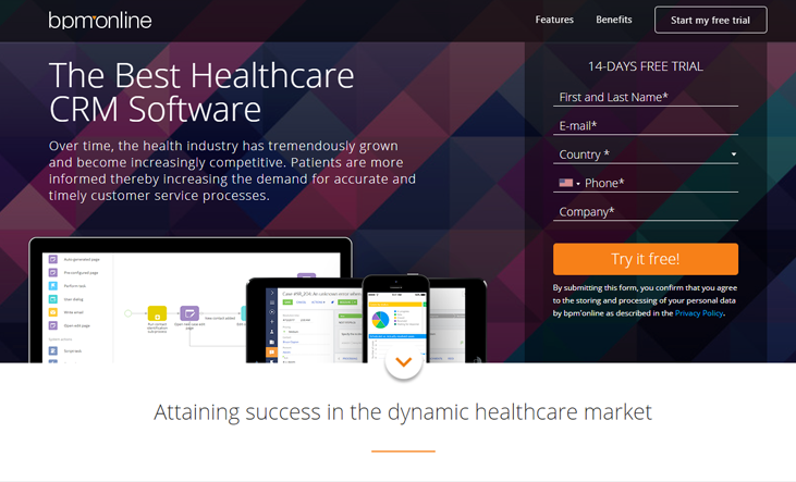 Bpm'online -Healthcare CRM Software