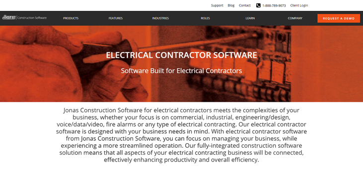 Jonas - Electrical Contractor Software