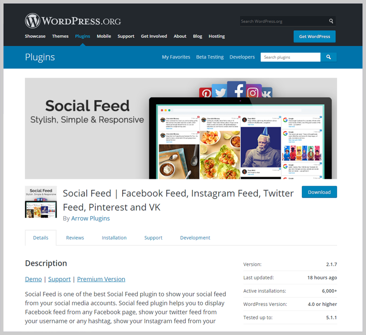 Social Feed - Facebook Feed WordPress Plugin