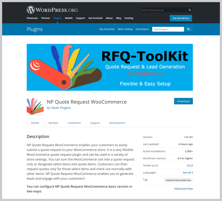 WordPress Org Plugin - Quote WordPress Plugins