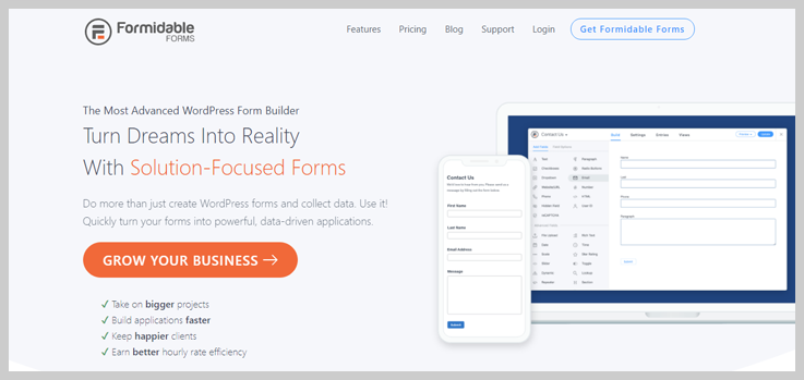 Formidable Forms - Solution Focussed Forms