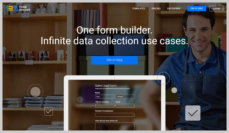 5. 123FormBuilder - Cheap & Modern Payment Collection Form