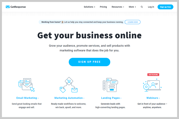 GetResponse - Email Marketing With An Edge