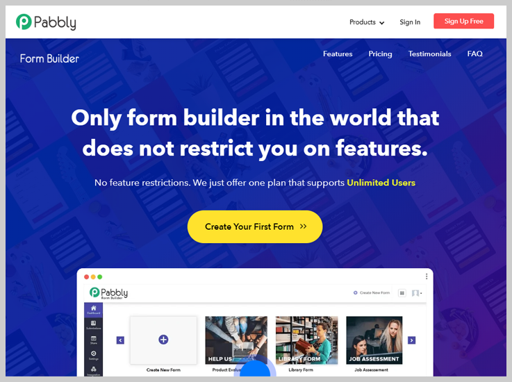 Pabbly Form Builder - The Best Cheap Payment Collection Form