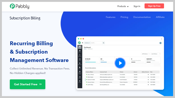 Pabbly Subscription Billing - Best Stripe Payment Analytics Software