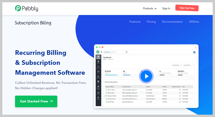 Pabbly Subscription Billing - Cheap Recurring Billing Software