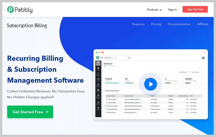 Pabbly Subscription Billing - Best Dunning Management Software
