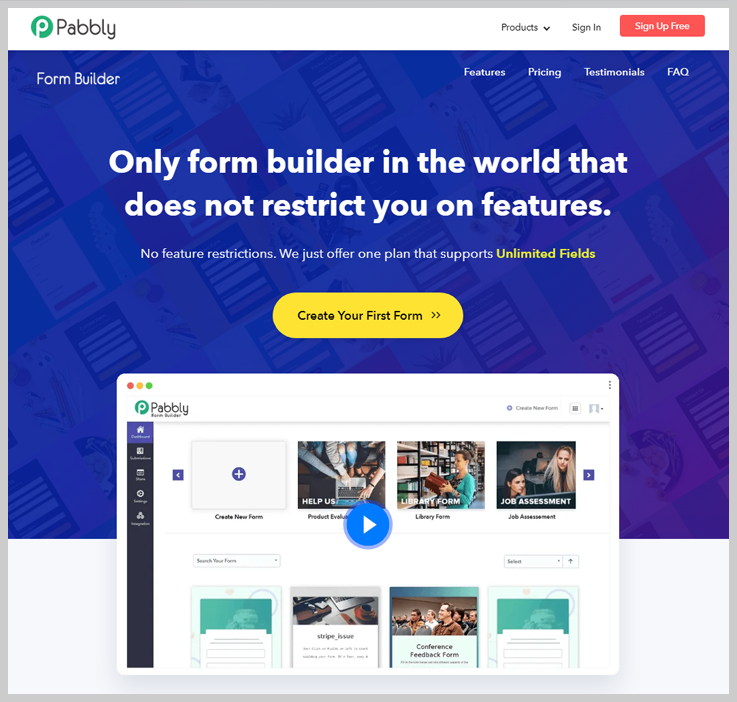 Pabbly Form Builder - Best WordPress Contact Form Builder