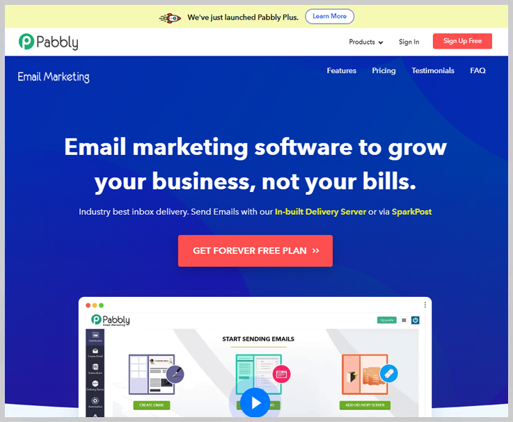 Pabbly Email Marketing - Best Constant Contact Alternatives