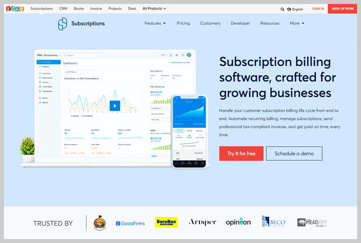 Zoho Subscriptions - Recurring Billing With Experience