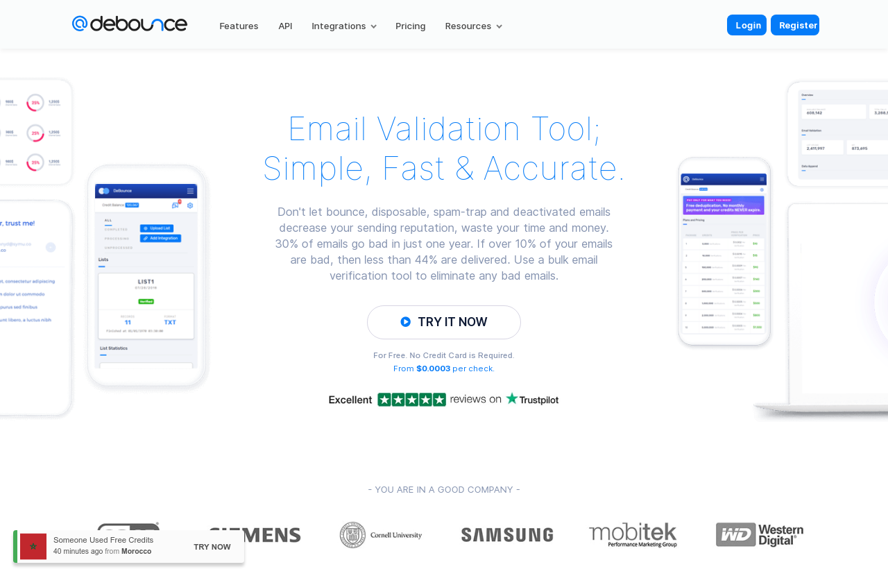 DeBounce - Email Verification Services