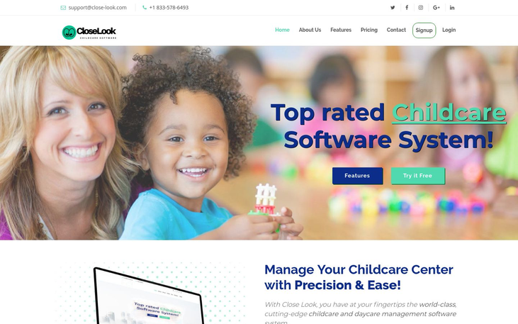 Close Look - Child Care Software