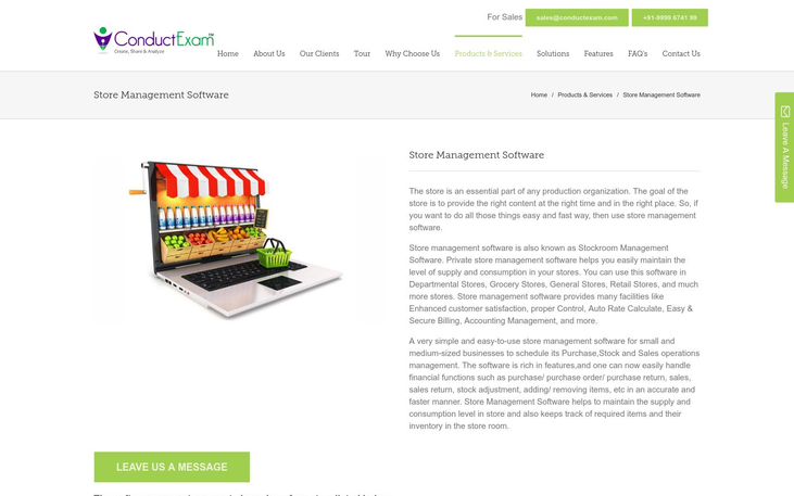 ConductExam Store Management System