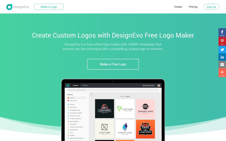 DesignEvo Logo Maker - Graphic Design Software