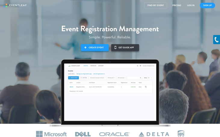 Eventleaf - Event Management Software