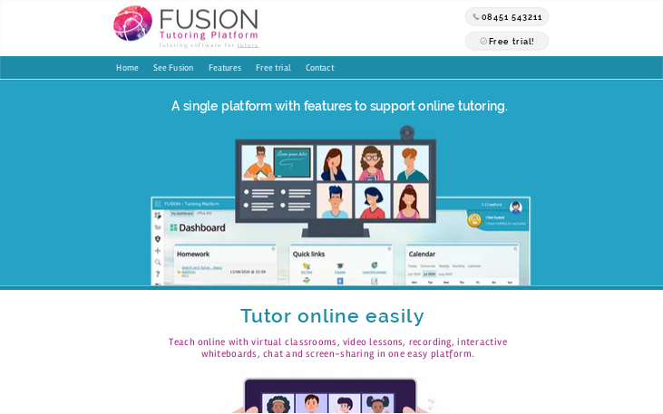 Fusion - Online Tutoring Software