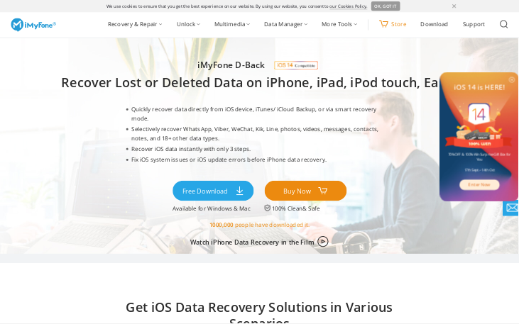 iMyFone D-Back - Data Recovery Software