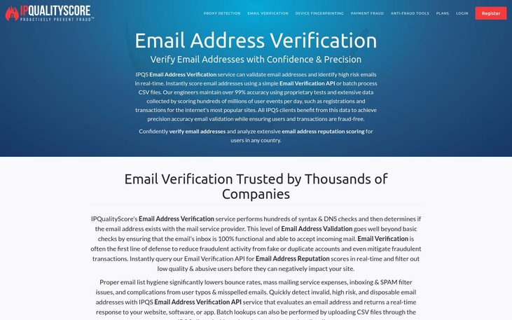 IPQS Email Verification