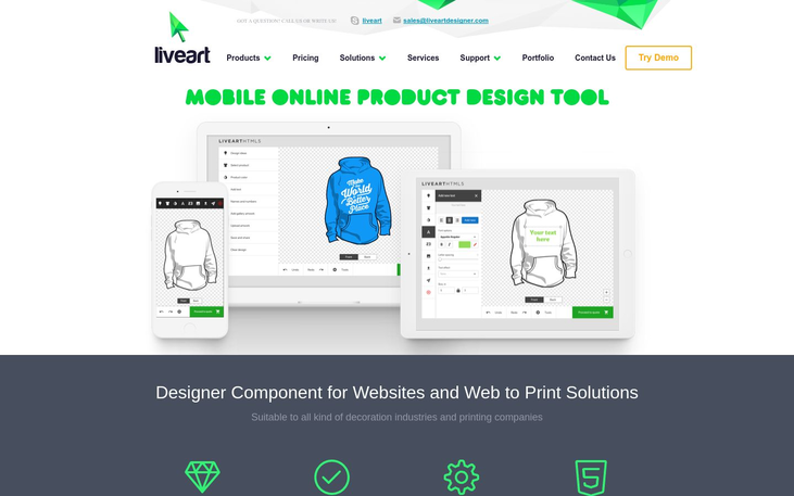 LiveArt – Online Product Design Tool