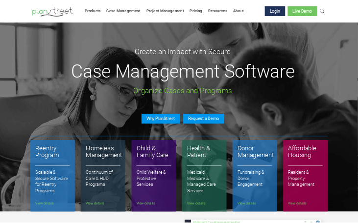 PlanStreet - Case Management Software