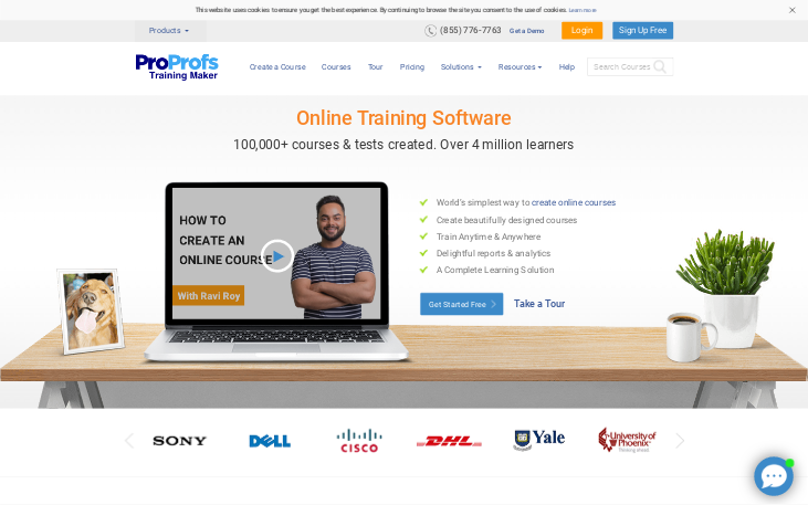 ProProfs Training Maker - Elearning Authoring Software