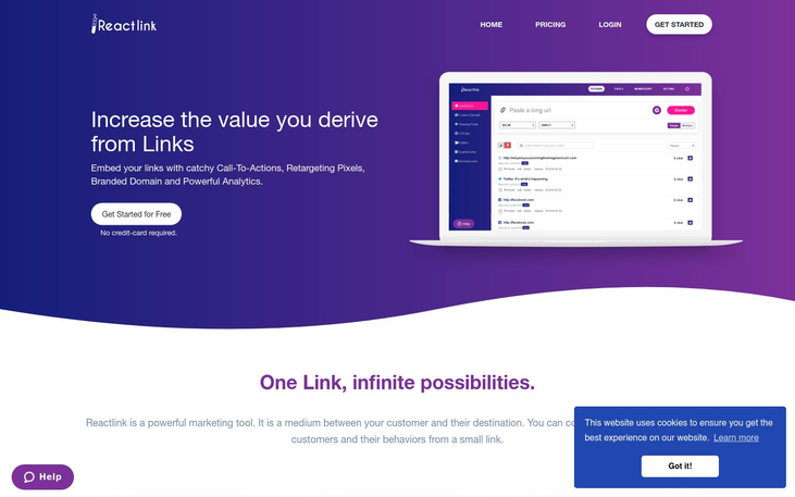 Reactlink.com - Analytics Tools Software