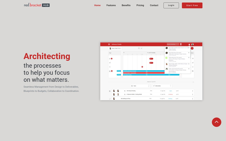 Red Bracket HUB - Project Management Software