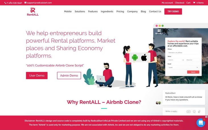 RentALL – Custom Airbnb clone Script - Rental Software