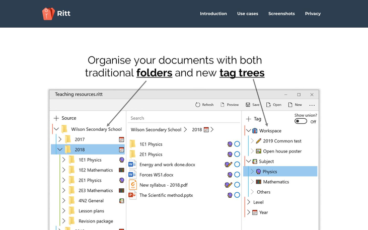 Ritt - File Organizer Software