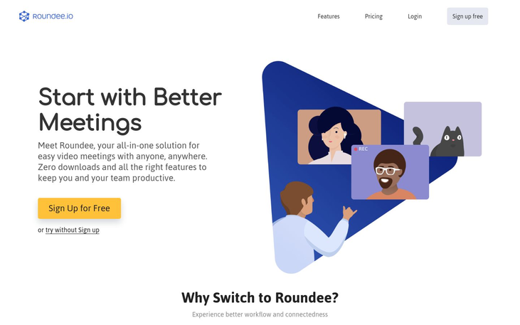 Roundee - Video Conferencing Software