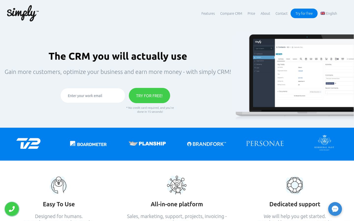 Simply CRM - Customer Relationship Management Software