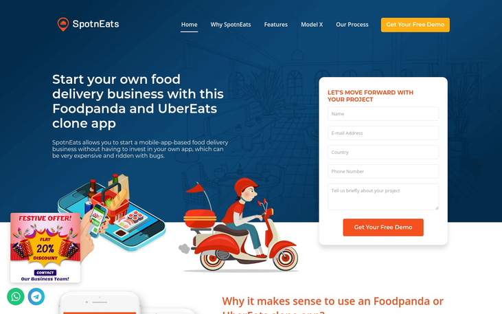 SpotnEats - Food Delivery Software