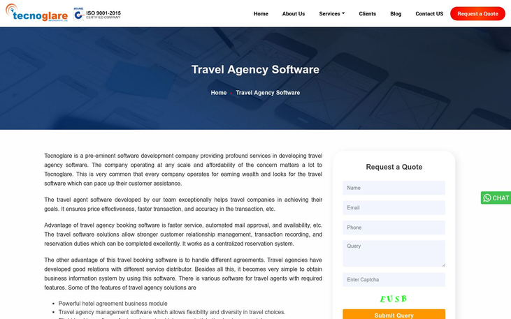 Tecnoglare - Travel Agency Software