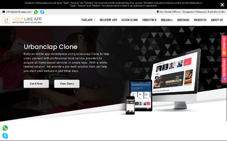 UrbanClap clone – An on-demand home services app solution